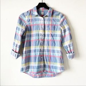 Madewell | Madras Shirt Plaid Button Up Top XS